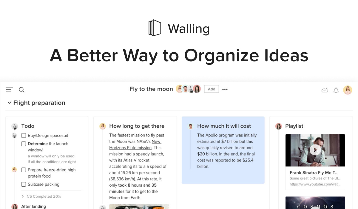 Tool to organize and refine ideas — Walling